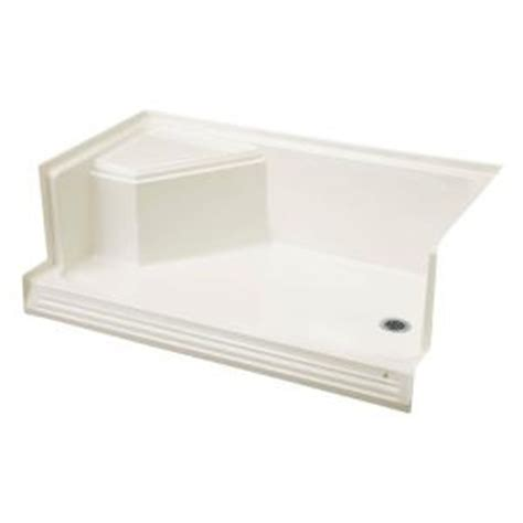 Home Depot Shower Seat by Kohler Memoirs 60 In X 36 In Shower Base With Integral