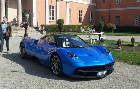 blue pagani blue pagani huayra spotted on set of pepsi commercial