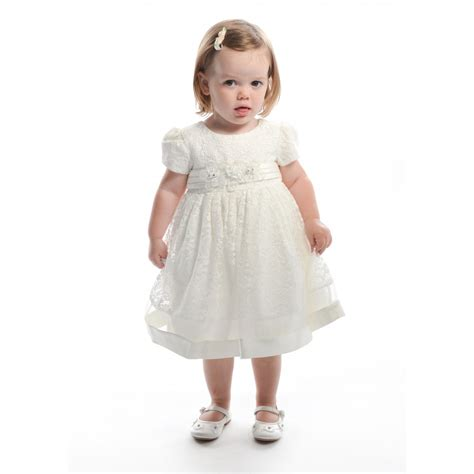 Dress Flower Baby baby or toddler flower dress in ivory lace