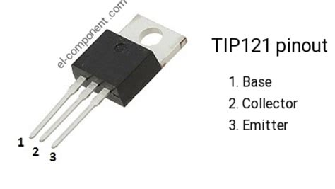 transistor tip 121 datasheet tip121 n p n transistor complementary pnp replacement pinout pin configuration substitute