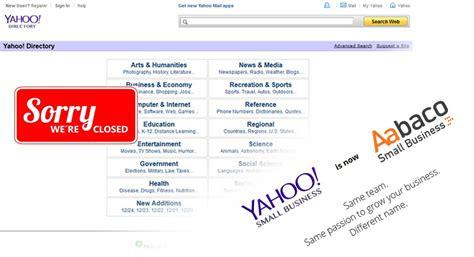 Search Yahoo Email Directory Chiude La Directory Di Siti Web Di Yahoo