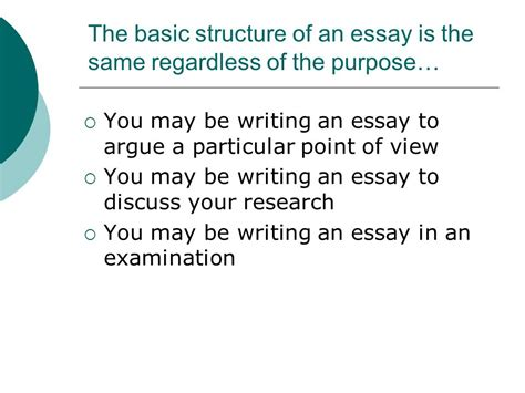Purpose Of Writing An Essay by Basic Guide To Writing An Essay Ppt