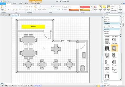 interactive diagram software interactive restaurant manager s console using