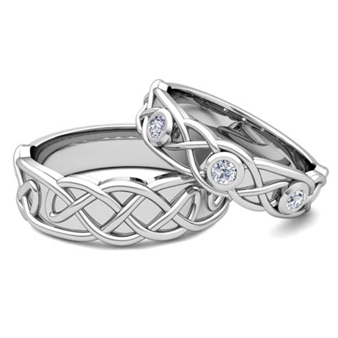 matching wedding band platinum celtic wedding ring