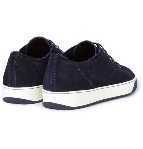 blue lanvin sneakers lyst lanvin suede sneakers in blue for