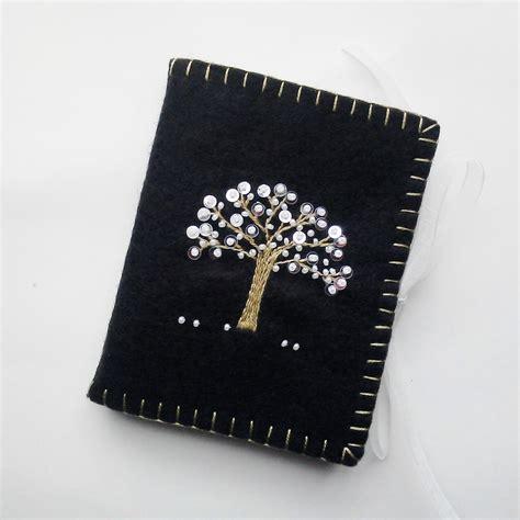 beaded needle cases wool felt needle embroidered black needle book beaded
