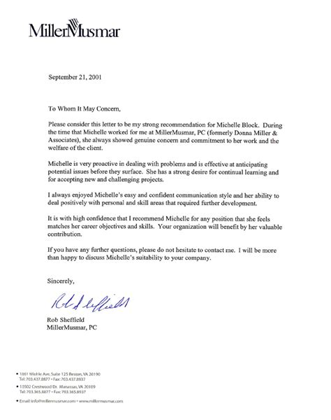 Reference Letter Hr letter of recommendation r sheffield search