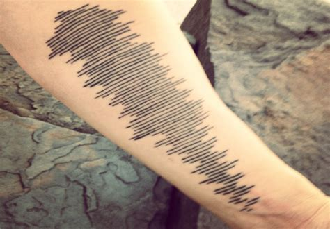 sound wave tattoo 6 clich 233 free memorial tattoos modern loss