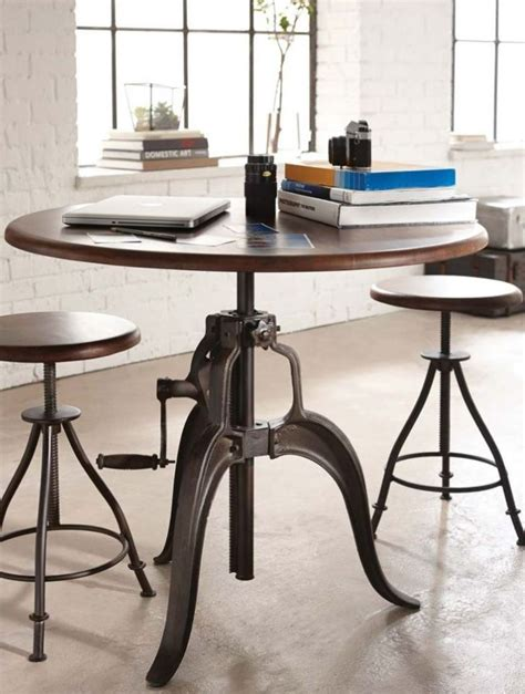 wine barrel kitchen table the crank gathering table is a and funky table that