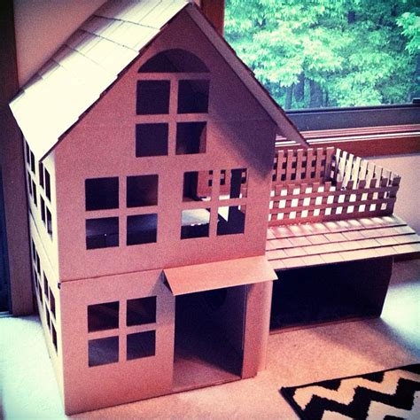 cardboard house cardboard cat house complete with rooftop patio projects pinterest cardboard houses