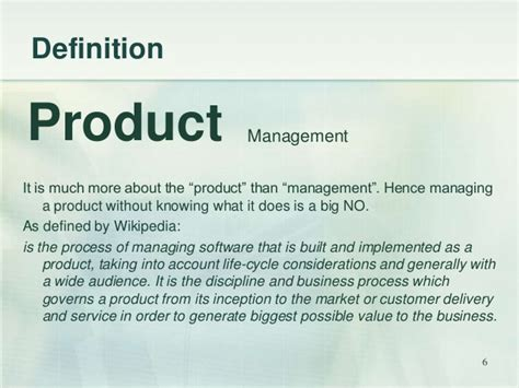 produce definition product management