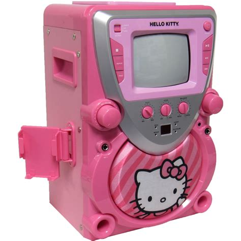 Microphone Hello Kity Alat Musik Mainan sakar hello cd cdg karaoke all in one machine