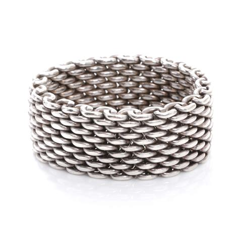 co sterling silver mesh somerset ring 9