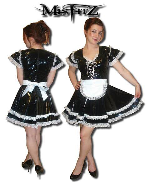 leather maids dress pvc glamour maids dress