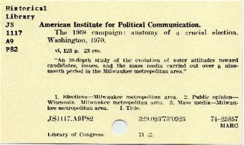 library catalog card template bibliographic data part 1 marc and its vile progeny