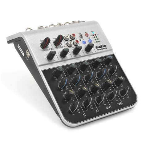 Mixer Mini subzero mix02au usb 6 channel mini mixer by gear4music