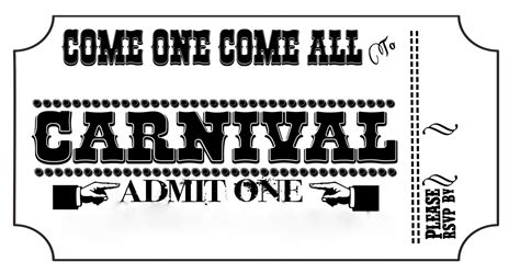 Carnival Tickets Template Free Printable carnival tickets templates free printable