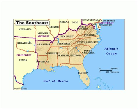 southern us map with states and capitals southeast state capitals