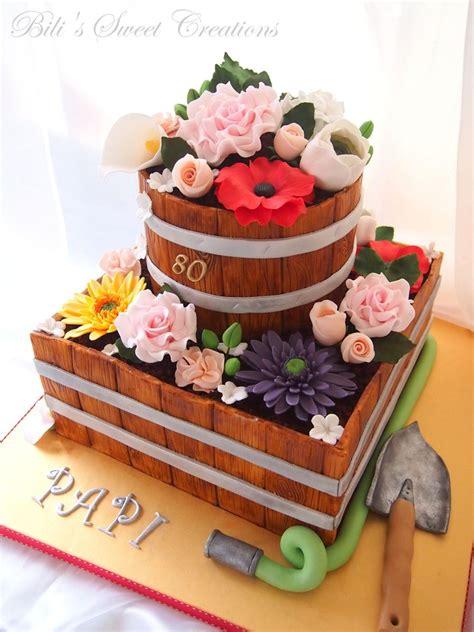 flower garden cake ideas flower pot cake cakecentral
