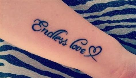 endless love tattoo on finger endless love text tattoo endless tattoo designs