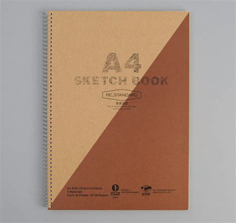 A4 Sketchbook a4 size sketchbook brown hickoree s
