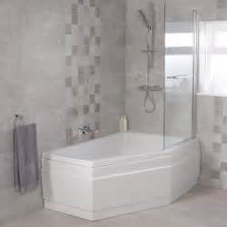 Corner Bath Shower trio 1500 x 1000 right hand shower bath