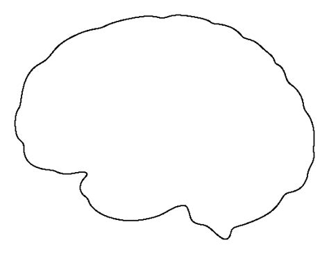 brain template printable blank brain cliparts co