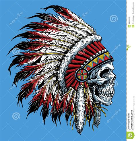 native american headdress tattoo sugar skull with indian headdress sugar skull