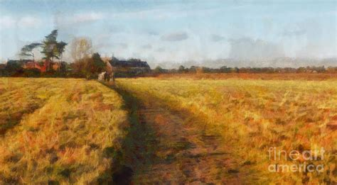 Century Home Decor by Old English Landscape Painting By Pixel Chimp