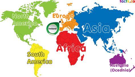 world map with ireland ireland location on world map