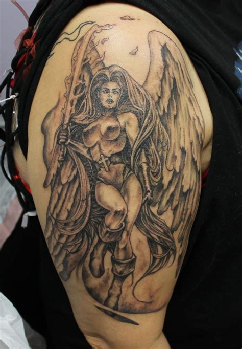 angel warrior tattoo designs 1000 ideas about warrior on