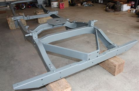 jeep frame 1943 willys mb jeep restoration project frame is done