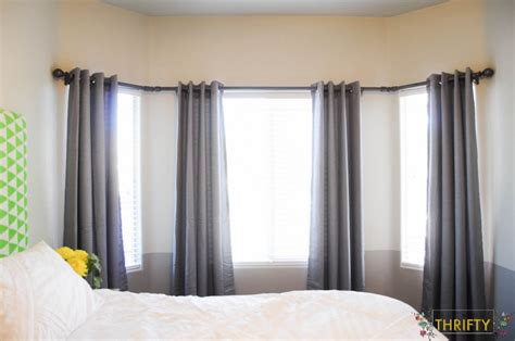 picture of curtains large bay window curtain rods bay window curtain rod find