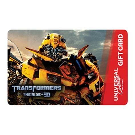 Gift Card Universal - your wdw store universal collectible gift card transformers bumblebee