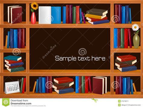 scaffali libri scaffali per libri di legno con i libri immagine stock