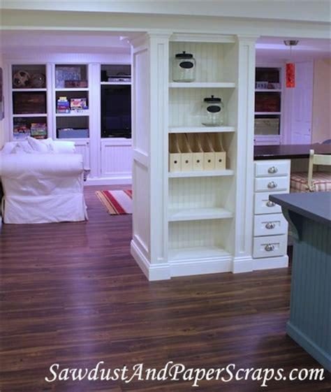 basement built in shelves basement remodel craft room shelves built around