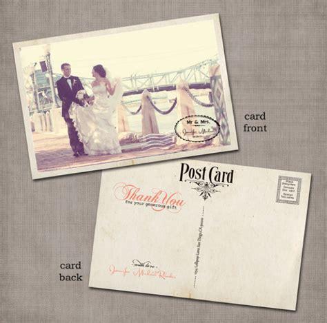 wedding thank you postcard thank you cards vintage villas hotel events