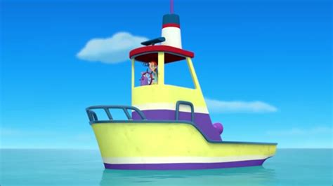 paw patrol on boat cap n turbot paw patrol wiki