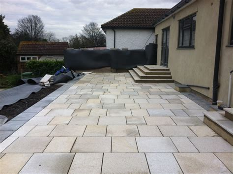 landscape design paving and resin bound driveway rear