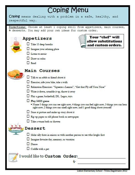 Free Printable Coping Skills Worksheets For Adults by Coping With Anxiety Worksheets Newhairstylesformen2014