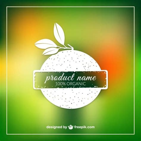 product label design templates organic product label template vector free