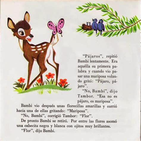 cuentos ilustrados de las 1409558924 vocabulario en im 225 genes maestra de infantil y primaria bambi cuento ilustrado