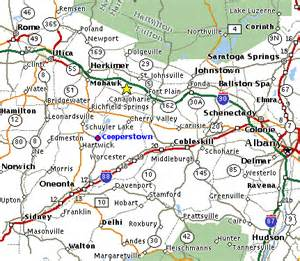 Cooperstown New York Map by Directions To Cooperstown New York