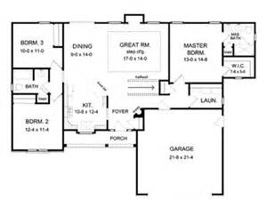 Ranch Style House Plans With Open Floor Plans by Ranch House Floor Plans Open Floor Plan House Designs