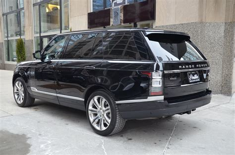 land rover back 2015 land rover range rover autobiography black lwb stock