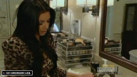 kim kardashian makeup organizer in her bathroom connected and intouch the kardashian s arcrylic makeup
