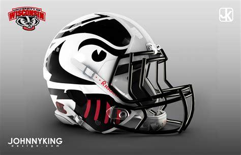 football helmet design history johnny king design 2013 wisconsin badger football helmet