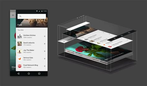 material design ideas xd essentials layered interface techniques for mobile