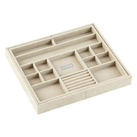 medium expandable stacker jewelry tray the container store