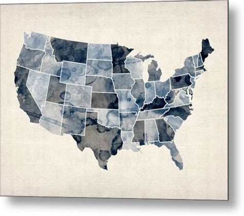 watercolor tattoos united states united states watercolor map digital by michael tompsett